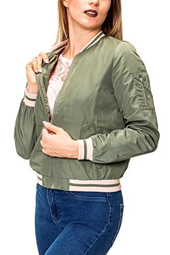 ONLY Damen Bomberjacke Übergangsjacke Wattierte Jacke Agave Green XS
