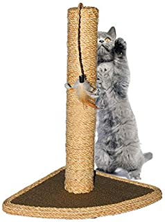 Scratching Post Scratcher Post Cat Scratcher, Hemp Rope Pet Scratchers with Cat Hanging Tree Toy for Satisfing Cat's Natural Scratching Instincts