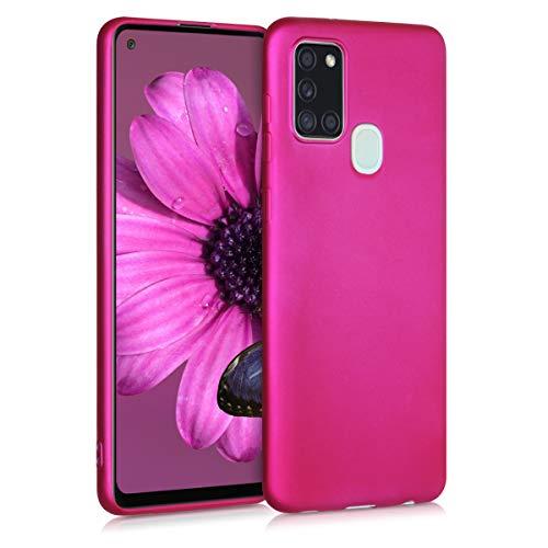 kwmobile Case kompatibel mit Samsung Galaxy A21s - Hülle Handy Metallic Pink
