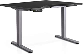 140cm Curved Adjustable Curved Desk - Black