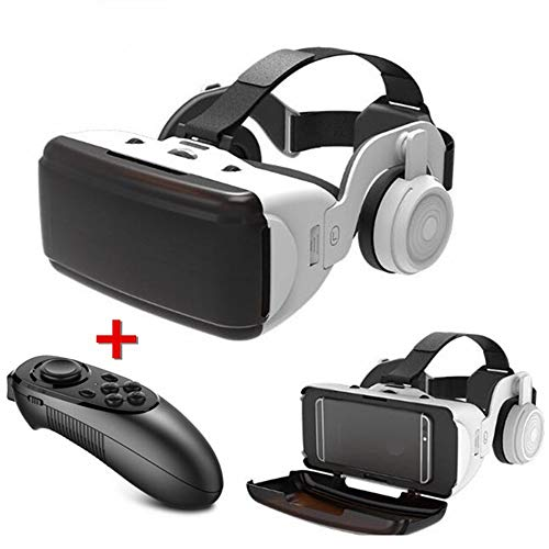 VR Headset, 3D Glasses HD Virtual Reality Headset w/Bluetooth Remote Controller For VR Games & 3D Movies, Eye Care System For Iphone And Android Smartphones, w/ 4.5-6.5inch Screen