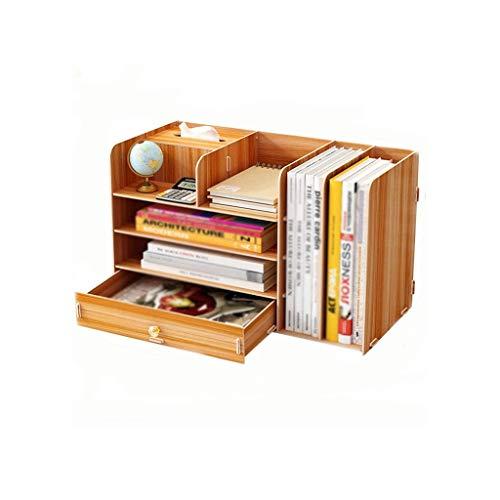 JJZXD Bookstands estudiante receptáculo de escritorio plataforma sencilla multifuncional Estantería de oficina pequeña mesa de noche estante superior (Color : A)