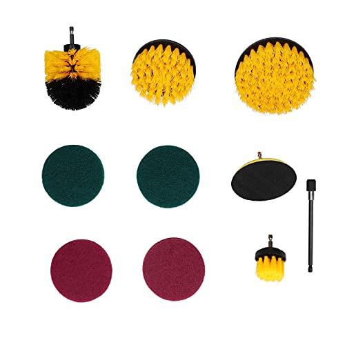 Zhat Depurador eléctrico, Kit de Cepillo de Taladro Duradero Que Ahorra Tiempo, Resistente para el hogar, para alfombras, para baldosas de Piscina