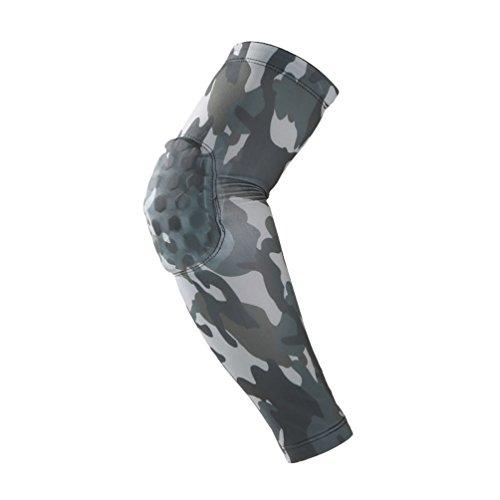 Dexinx Unisex Compression Ellenbogenstützhülse Hoher Elastischer Sport Ellenbogenbandage für Tennis, Golfer, Gewichtheben Tarnung XL(43cm)