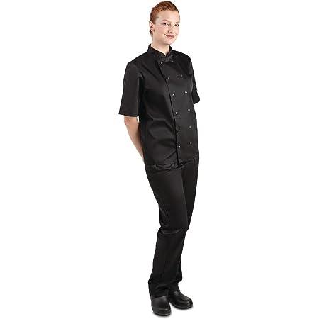 Whites Chefs Apparel A439-M Vegas Chef Jacket, Short Sleeve, Black