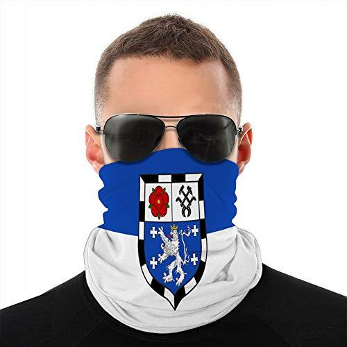 ncnhdnh Multifunktionaler atmungsaktiver Mikrofaser-Halstuch Half Shield Cover Flagge von Saarbrücken im Saarland in Deutschland Sun-Proof Shield