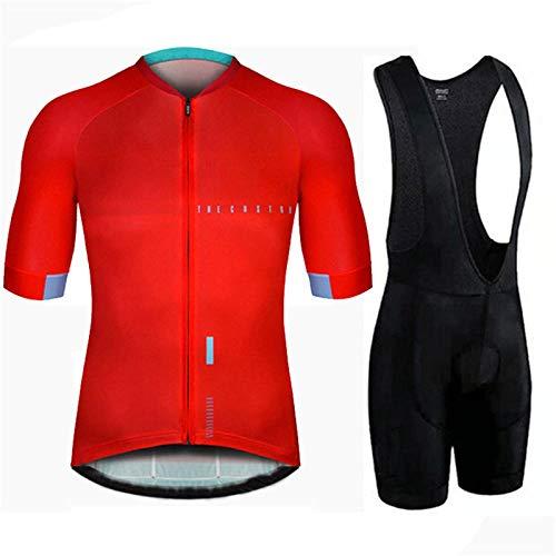 NHGFP QPM Triathlon Pro fietsshirt fietsbroek set fiets uniform pak fietsen kleding MTB Bike Kleding (kleur: fietspak 4, Maat : 5XL)