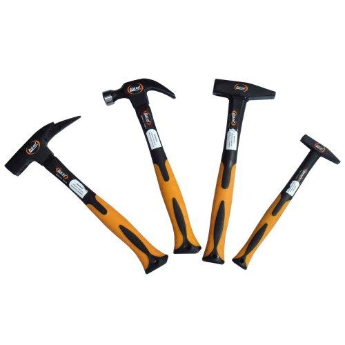4 tlg Hammer Set 500g 300g Schlosserhammer Klauen Latthammer
