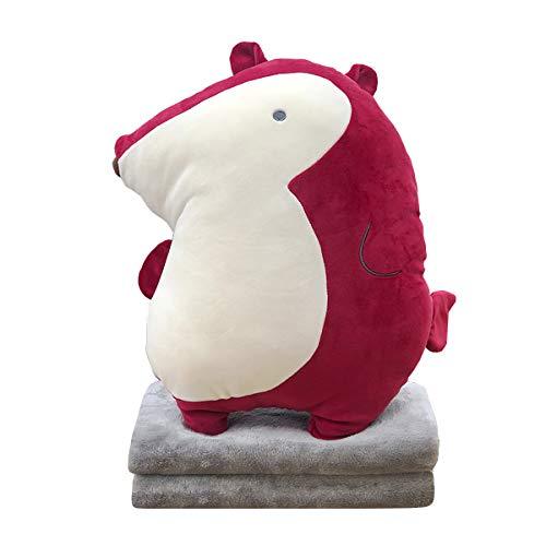 Hofun4U Soft Fox Plush Hugging Pillow 16 Inch, Cute Anime Throw Pillow Stuffed Animal Doll Toy with Coral Fleece Blanket, Girls Boys Gifts for Birthday, Valentine, Christmas, Travel, Holiday