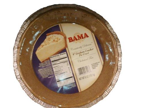 "9"" Graham Cracker Pie Crust 6 oz 170.1g Cholesterol Free Ready to Use in Tin Bama Since 1937"