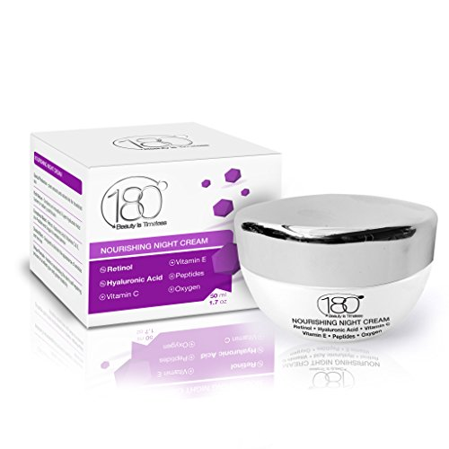 Night Cream Moisturizer for Face and Eyes - Best Nourishing Night Cream Enriched with Hyaluronic Acid - Retinol - Vitamin E - Peptides - Skin Repair - Anti Aging - Wrinkles - Fine Lines Moisturizing