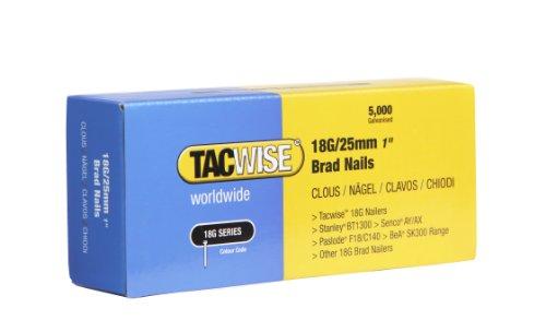Tacwise 0396 18G/ 25mm Nails for Nail Gun (Box of 5000)