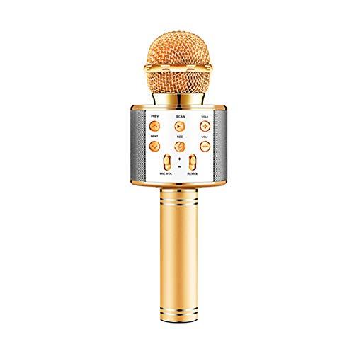 Myya Micrófono De Karaoke Inalámbrico Bluetooth Portátil con Altavoz De Música Cambiador De Voz para Chico Adulto Chica Fiesta En Casa