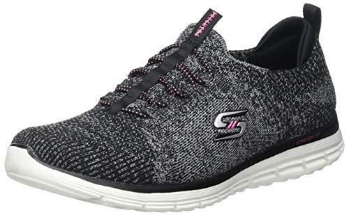 Skechers Damen Luminate She's Magnificent Sneaker, Black Pink, 22 EU