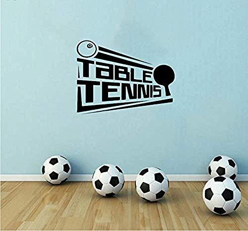 Wandaufkleber 57X43Cm Wandtattoo Tischtennis Poster L Vinyl Wandbild Für Gymnasium Tischtennis Sport Mädchen Jungen Zimmer Dekor