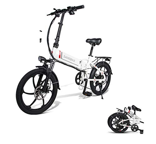 CCDYLQ 20 Pulgadas Plegable E-Bici 350W de Motor sin escobillas, de Iones...
