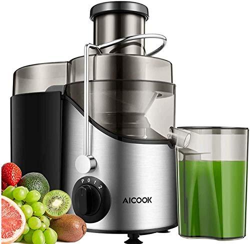 Centrifugeuse Extracteur de Jus, Aicook Large Bouche Centrifugeuse Fruits et Legumes, Avec Pieds Antidérapants, 3 réglages de vitesse, Sans BPA