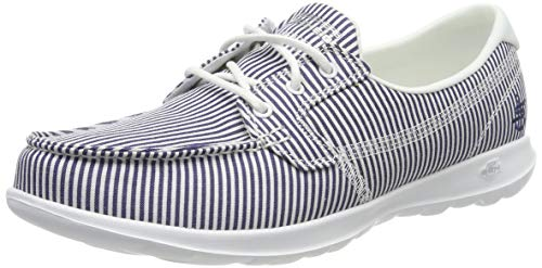 Skechers Women's Boat Shoes, Blue Navy White NVW, 36