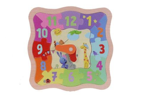 Eichhorn -109467051 - Puzzle d'apprentissage de l'horloge - Kikaninchen - en Bois