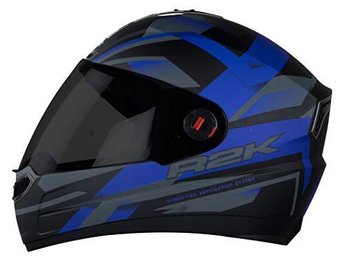 Steelbird SBA-1 R2K Full Face Graphics Helmet in Matt Finish with Smoke...