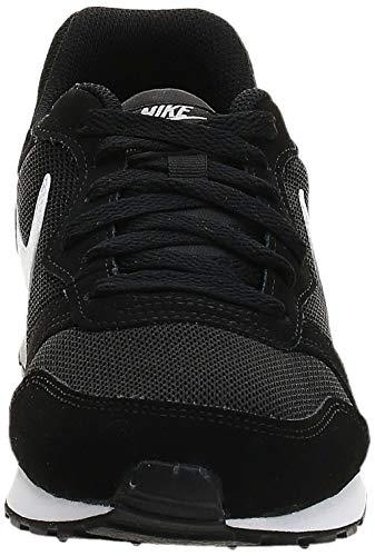 Nike MD Runner 2 (GS), Zapatillas de Correr Unisex Adulto, Negro (Black/Wolf Grey/White), 38 EU