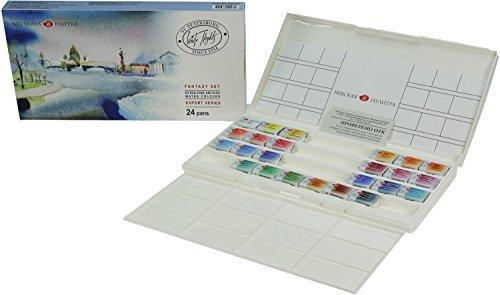 White Night Artists Watercolour Fantasy Set 24 sartenes enteras, caja de plástico