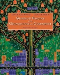 Student Manual for Kirst-Ashman/Hull's Generalist Practice with Organizations and Communities, 4th