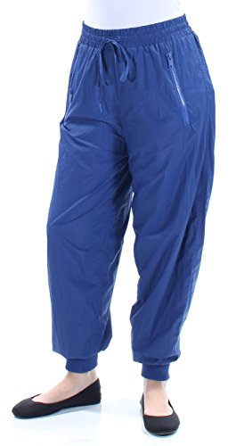 DKNY Womens Blue Zippered Draw String Pants Size: S
