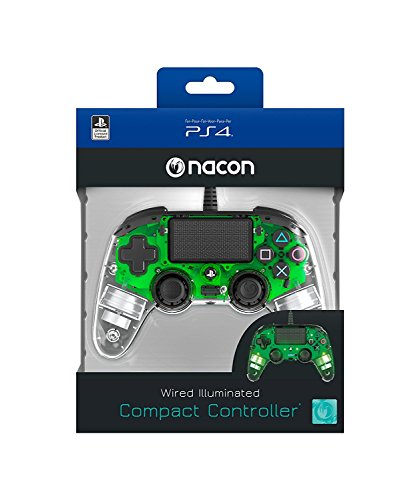 Nacon Wired Illuminated Compact PlayStation 4 Controller Wired Green (PS4)