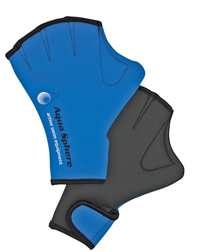 Aqua Sphere Webbed Swim Gloves (Medium)