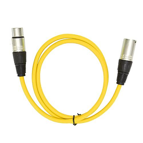 Eosnow Cable de micrófono, Accesorios de micrófono Buen Efecto de transmisión para conciertos Stagelive, Aplicaciones de grabación para micrófono(Amarillo)