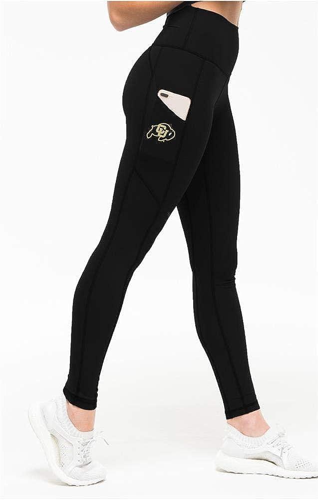Kadyluxe Women's University 40% Complete Free Shipping OFF Cheap Sale of Colorado Black Yoga Buffaloes Pan