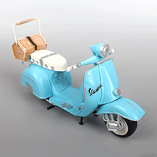WANGCH Pedales pequeños de Colores Adornos de Motocicleta Antiguos y Antiguos/Bar en casa Restaurante Simulación Modelo de Moto clásico/Aleación estática Motor de Juguete Bicicleta Decoración de e