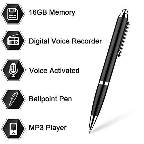 Aizhy, bolígrafo grabador de voz digital de 16 GB activado por voz