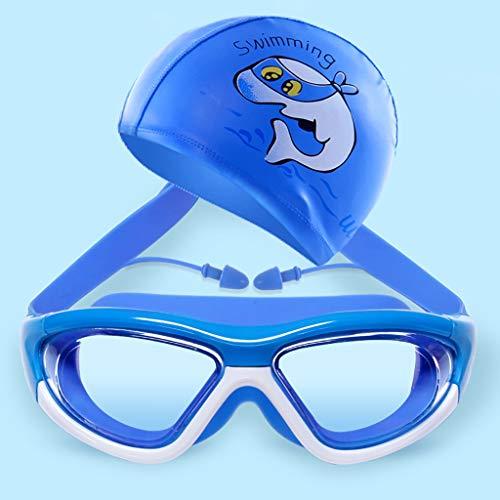LFY Kinderschutzbrillen mit Badekappe, professionelles wasserdichtes Anti-Fog HD Transparent