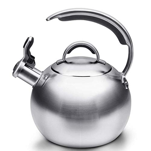 OH Tea Coffee Maker Calder para Horno de Agua Caliente Top Hervidor de Acero Inoxidable, Diseño Ergonómico 3. Tetera de Silbato Litro Regalo de vacaciones