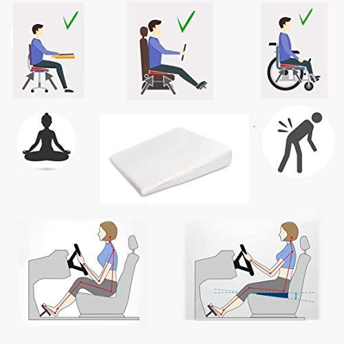 Cojín ortopédico para silla de oficina, silla de ruedas, apoyo de espalda, coxis, alivio del dolor de madera