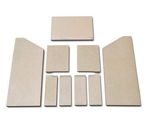 Feuerraumauskleidung für Wamsler Myra Kaminöfen - Vermiculite und Schamotte - 9-teilig