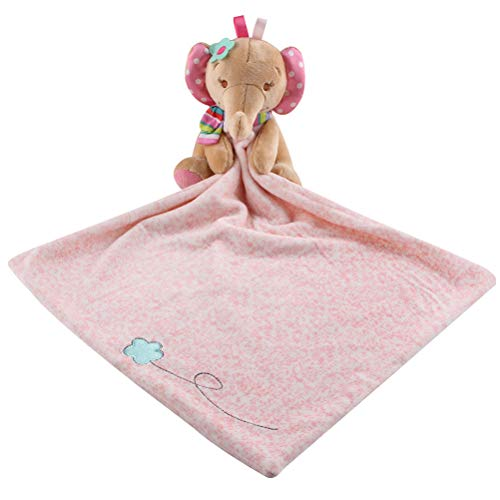 YeahiBaby Schnuffeltuch Elefant Form Schmusetuch für Baby Neugeborenen Plüschtiere (Rosa)