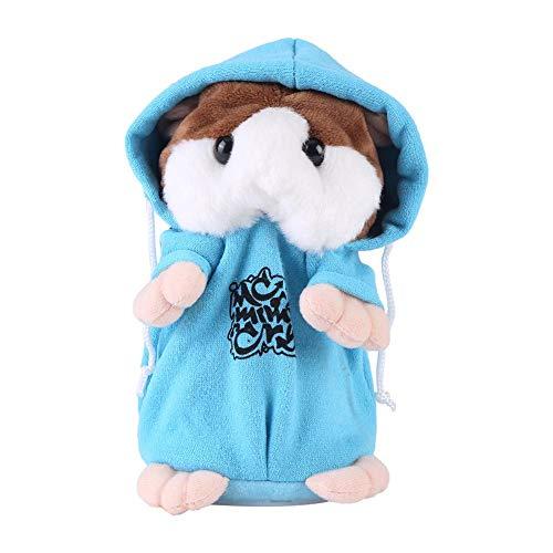 Halking Hamster de Peluche de Juguete, Record Speaking Plush Hamster Juguete electrónico Talking Record de Felpa interactiva Juguetes para Niños Aprendizaje temprano (Blue)