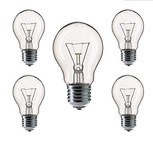 AcornSolution Glühbirne Birnenform A55 Glühlampe Glühbirnen Glühlampen warmweiß dimmbar (60W, A55-60W E27 Clear)