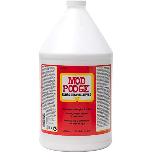 Mod Podge CS11204 Waterbase Sealer, Glue & Decoupage Finish, 128 oz, Gloss