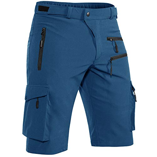 Cycorld MTB Hose Herren Radhose, MTB Shorts Atmungsaktiv Farradhose Hose Herren Outdoor Bike Shorts 2021 Version (Indigo Ohne Unterwäsch, M)
