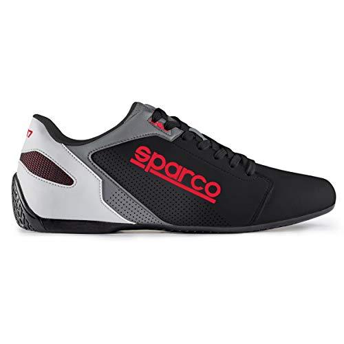 SPARCO (スパルコ) ドライビングシューズ SL-17 サイズ/42 カラー/BLACK/RED 00126342NRRS