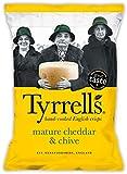 Tyrrels - Patatine Fritte al Formaggio Ceddar Stagionato & Erba Cipollina - Mature Cheddar & Chive 150 gr.