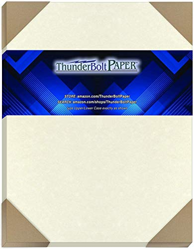 100 Soft White Parchment 60# Text (=24# Bond) Paper Sheets - 9 X 12 Inches Sketch Pad Size - 60 Pound is Not Card Weight - Vintage Colored Old Parchment Semblance