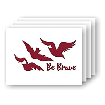 Be Brave Tris  Ravens Tattoo SMALL Vinyl Car/Laptop Decal