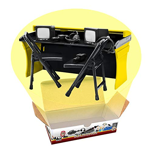 Figures Toy Company Black & Yellow Commentator Table Playset for Wrestling Action Figures