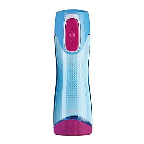 Contigo Swish Autoseal butelka na wodę, duża butelka do picia bez BPA, szczelna butelka na siłownię, idealna do uprawiania sportu, biegania, roweru, biegania, wędrówek, 500 ml, błękitny