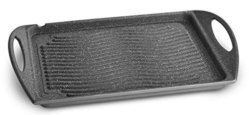 Lagostina Speciali Antiaderenti Piastra, Alluminio Pressofuso, Grigio, 34 x 26 cm